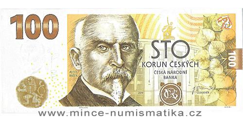 100 Kč vzor 2019 - Budování československé měny - 8 kusů (všechny série)