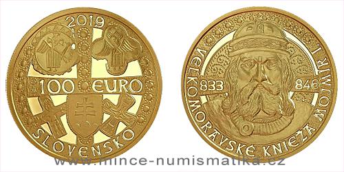 100 € - Veľkomoravské knieža Mojmír I.