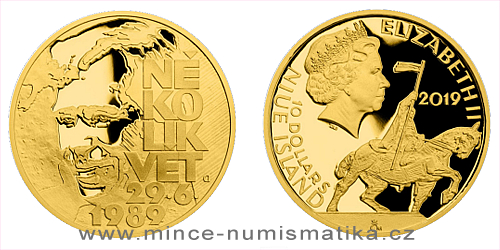 Zlatá mince Cesta za svobodou - Petice