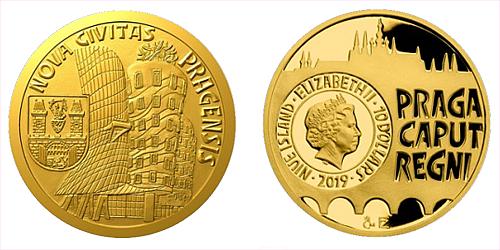 Zlatá čtvrtuncová mince Vznik královského hlavního města Praha - Nové Město pražské