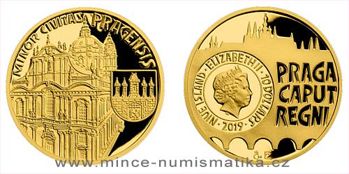 Zlatá čtvrtuncová mince Vznik královského hlavního města Praha - Malá Strana