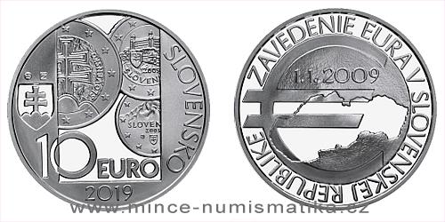 10 € - 10. výročie - Zavedenie eura v Slovenskej republike