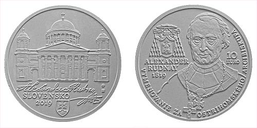10 € - 200. výročie - Vymenovanie Alexandra Rudnaya za ostrihomského arcibiskupa