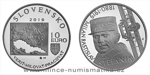 10 € - 100. výročie úmrtia - Milan Rastislav Štefánik