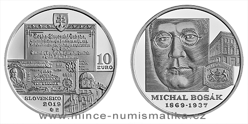 10 € - 150. výročie narodenia - Michal Bosák
