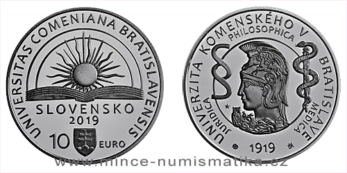 10 € - 100. výročie vzniku - Univerzita Komenského v Bratislave