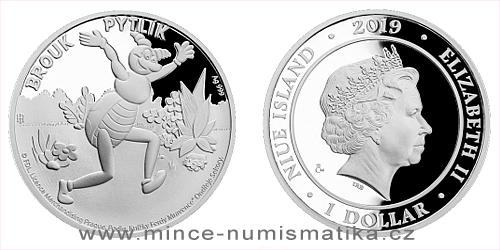 Stříbrná mince Brouk Pytlík