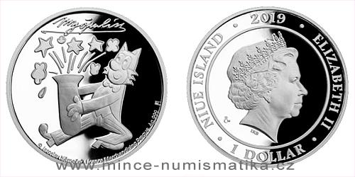 Stříbrná mince Čtyřlístek - Myšpulín