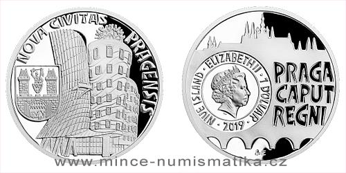 Stříbrná mince Vznik královského hlavního města Praha - Nové Město pražské