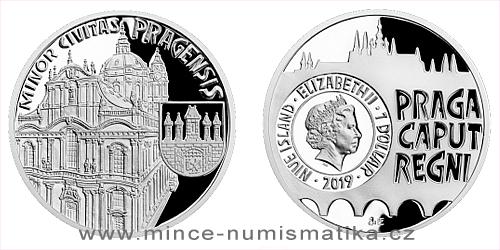 Stříbrná mince Vznik královského hlavního města Praha - Malá Strana
