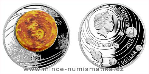 Stříbrná mince Sluneční soustava - Slunce