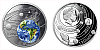 Stříbrná mince Sluneční soustava - Země