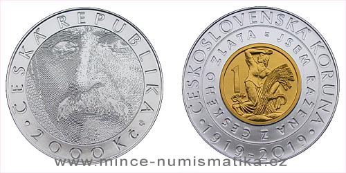 2000 Kč - 100. výročí - Zavedení československé koruny
