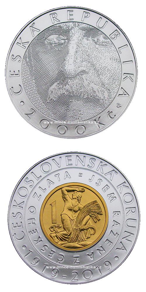 2019_2000_Kc_Ceskoslovenska_koruna_Au_Ag_standard_mince