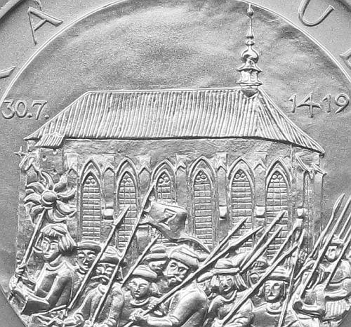 2019_200_Kc_Prvni_prazska_defenestrace_Ag_mince_detail_1