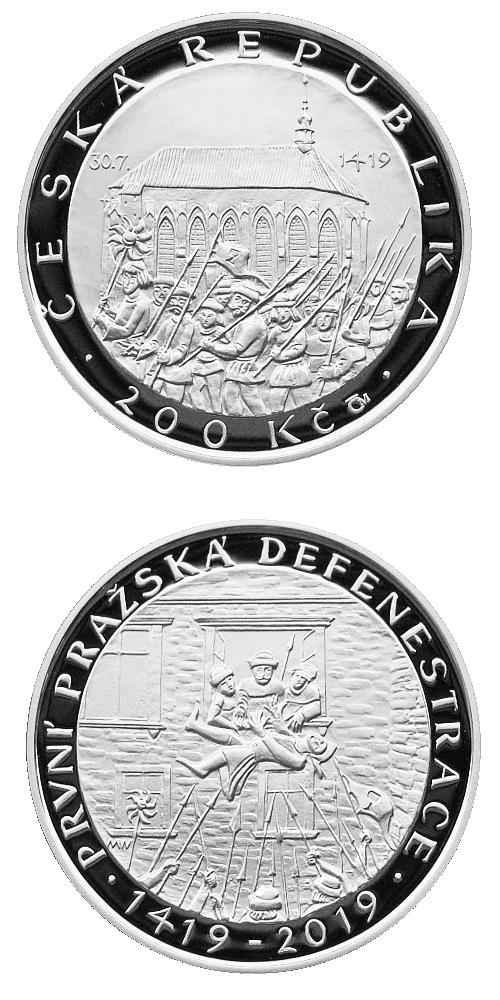 2019_200_Kc_Prvni_prazska_defenestrace_Ag_mince_pp
