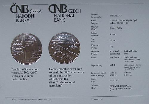 2019_200_Kc_letoun_Bohemia_B-5_Ag_certifikat
