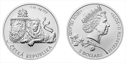 Stříbrná uncová investiční mince Český lev 2019