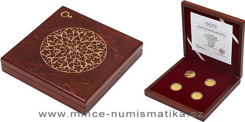 Sada čtyř zlatých mincí Založení Katedrály sv. Víta