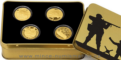Sada čtyř zlatých mincí Válečný rok 1944