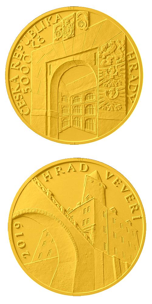 2019_5000_Kc_hrad_Veveri_Au_navrh_mince