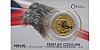 Zlatá uncová investiční mince Český lev 2019 reverse proof, číslovaný obal