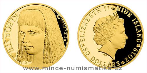 Zlatá uncová mince Osudové ženy - Kleopatra