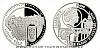 Platinová uncová mince UNESCO - Telč - historické centrum