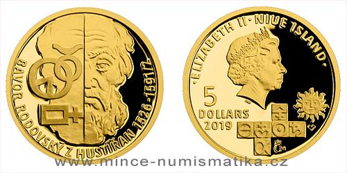 Zlatá mince Alchymisté - Bavor Rodovský z Hustířan