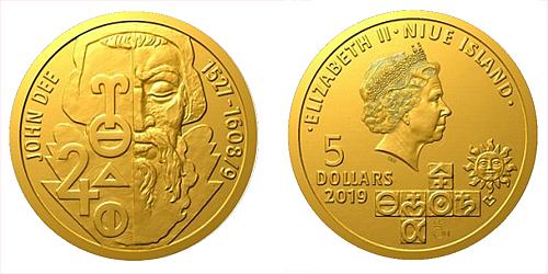 Zlatá mince Alchymisté - John Dee