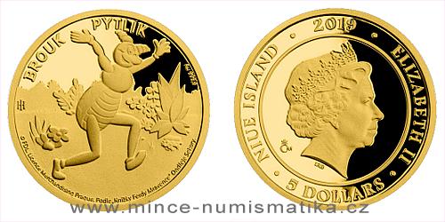 Zlatá mince Brouk Pytlík