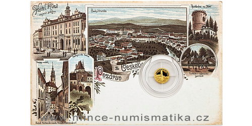 Zlatá mince Český Krumlov
