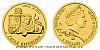 Zlatá 1/25 Oz investiční mince Český lev 2019