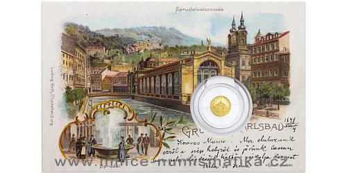 Zlatá mince Karlovy Vary - Tržní kolonáda
