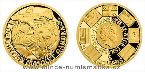 Zlatá mince Válečný rok 1944 - Operace Market Garden