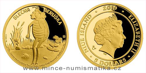 Zlatá mince Slečna Beruška