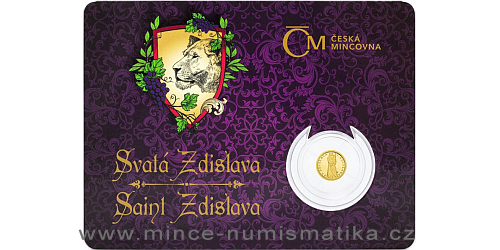 Zlatá mince Patroni - Svatá Zdislava