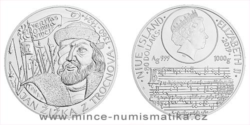 Stříbrná kilogramová mince Jan Žižka