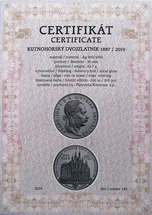 2019_Ag_Kutnohorsky_dvouzlatnik_unc_4_certifikat