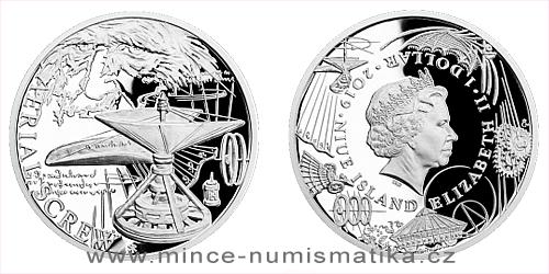 Stříbrná mince Vynálezy Leonarda da Vinci - Helikoptéra