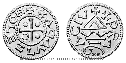Historie českých mincí - Lucie Seifertová - replika denáru