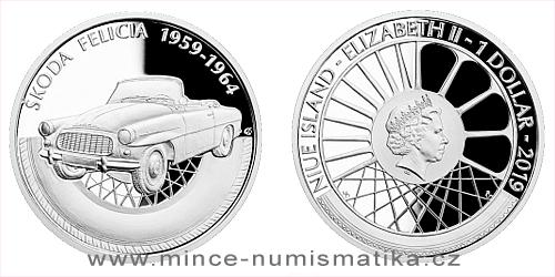 Stříbrná mince Na kolech - Škoda Felicia