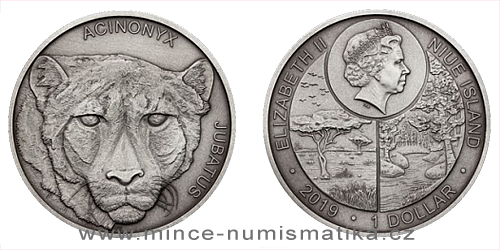 Stříbrná mince Zvířecí rekordmani - Gepard štíhlý