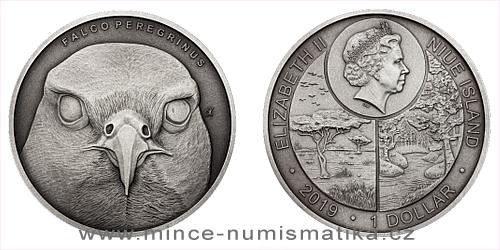Stříbrná mince Zvířecí rekordmani - Sokol stěhovavý