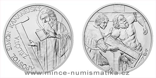 Stříbrná medaile Apoštol Šimon Kananejský