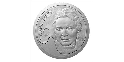 Stříbrná uncová medaile Karel Gott - Malíř
