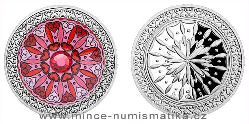 Stříbrná medaile Mandala - Láska