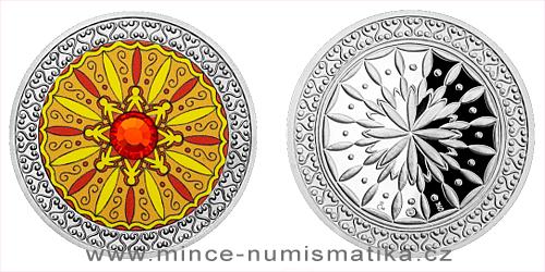 Stříbrná medaile Mandala - Přátelství