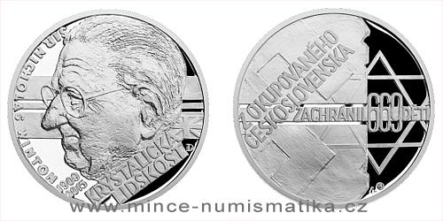 Stříbrná medaile Národní hrdinové - Sir Nicholas Winton