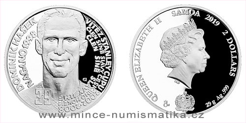 Stříbrná mince Legendy čs. hokeje - Dominik Hašek
